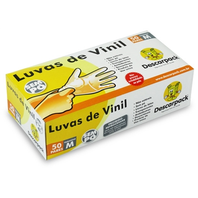 Luva em Vinil sem Pó C/100 - M