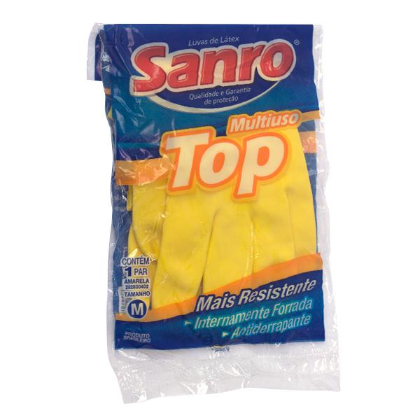 Luvas de Latex - Top Mutiuso - Sanro - 1par