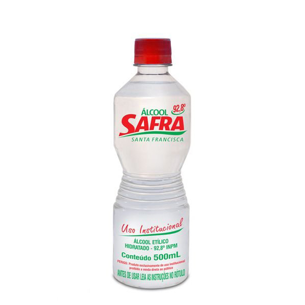 Álcool Líquido 92º - Safra - 1 Litro