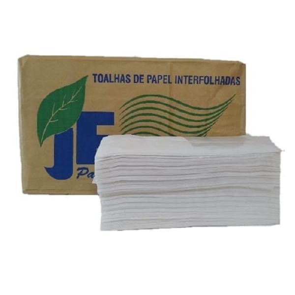 Toalha de Papel Interfolha 100% Celulose - JF - 20x20 cm 1000 fls