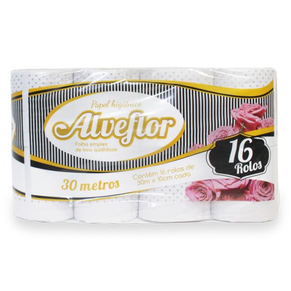Papel Higiênico - Alveflor - 16x30 mts