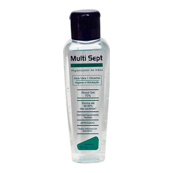 Álcool Gel Antisséptico - Multi Sept - 60 ml
