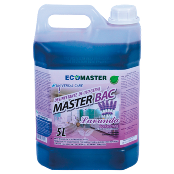 Master Bac - Lavanda - 5 lts - Desinfetante