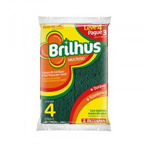 Esponja Dupla Face Brilhus LV4 PG3
