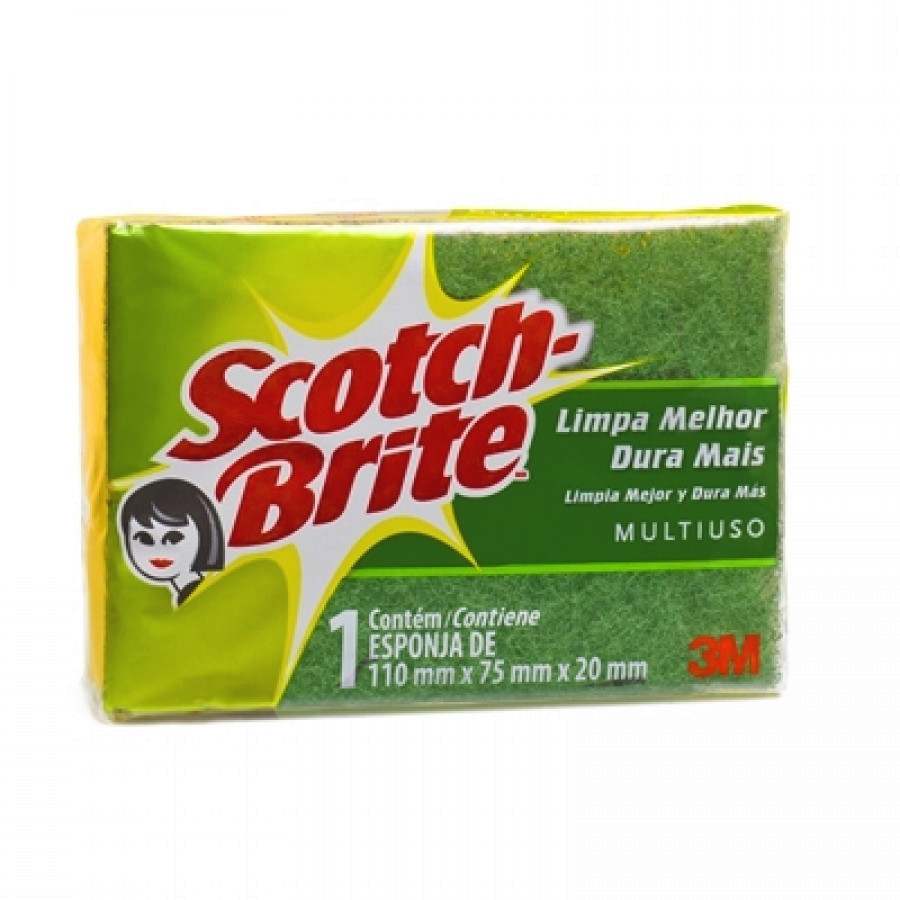 Esponja Dupla Face - Scotch Brite - 3m