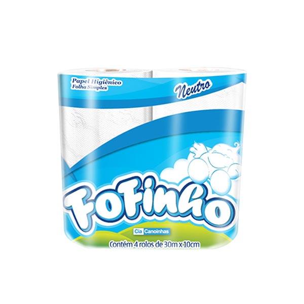 Papel Higiênico Fofinho - 16x4x60 - Folha simples