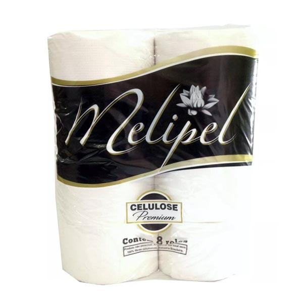 Papel Higiênico - 8x300 Mts - Branco Melipel